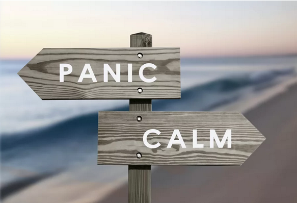 Panic and calm signboards